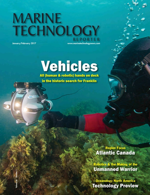 Marine Technology Magazine Cover Jan 2017 - Underwater Vehicle Annual: ROV, AUV, and UUVs