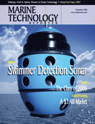 Marine Technology Magazine Cover Nov 2006 - Deep Ocean Exploration