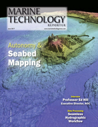 Marine Technology Magazine Cover Jun 2017 - Hydrographic Survey