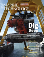 Marine Technology Magazine Cover Apr 2019 - Ocean Energy: Oil, Wind & Tidal