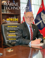 Marine Technology Magazine Cover Sep 2021 - MTR100: Focus on 100 Leading Companies, People and Innovations in the Subsea Space