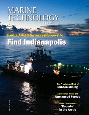 Marine Technology Magazine Cover Oct 2017 - AUV Operations