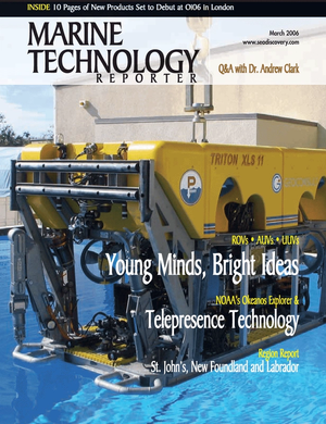 Marine Technology Magazine Cover Mar 2006 - AUVs; ROVs; UUVs