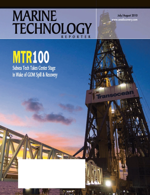 Marine Technology Magazine Cover Jul 2010 - MTR100 Edition