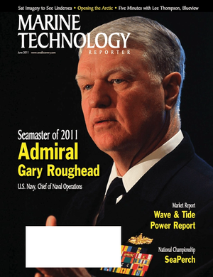 Marine Technology Magazine Cover Jun 2011 - Hydrographic Survey