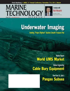 Marine Technology Magazine Cover Oct 2011 - Ocean Engineering & Design