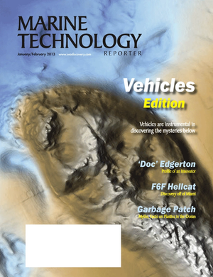 Marine Technology Magazine Cover Jan 2013 - Subsea Vehicle Report: Unmanned Underwater System