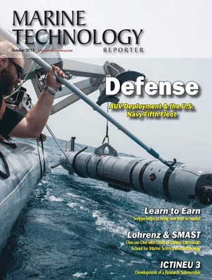 Marine Technology Magazine Cover Oct 2013 - Subsea Defense