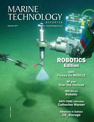 Marine Technology Magazine Cover Sep 2019 - Autonomous Vehicle Operations