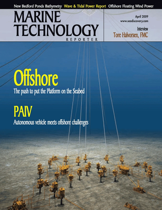 Marine Technology Magazine Cover Apr 2005 -