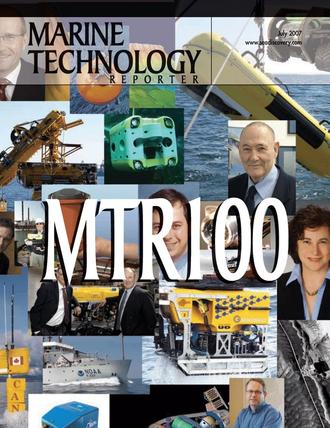 Marine Technology Magazine Cover Jul 2007 - The MTR 100