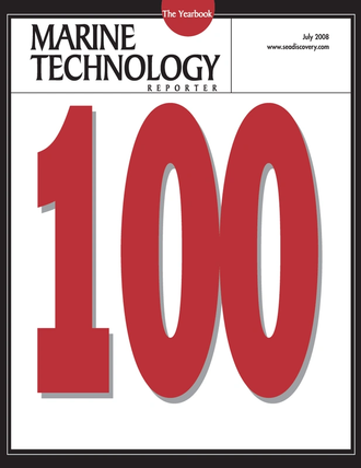 Marine Technology Magazine Cover Jul 2008 - The MTR 100 Yearbook