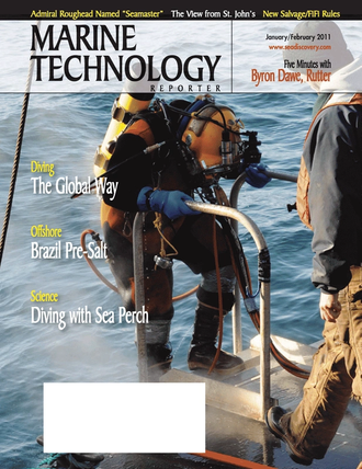 Marine Technology Magazine Cover Jan 2011 - Marine Salvage & Recovery