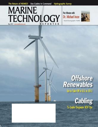 Marine Technology Magazine Cover May 2012 - Hydrographic Survey