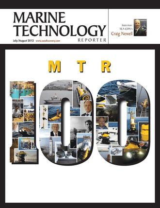 Marine Technology Magazine Cover Jul 2012 - MTR 100