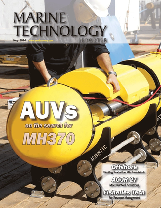 Marine Technology Magazine Cover May 2014 - AUV Operations