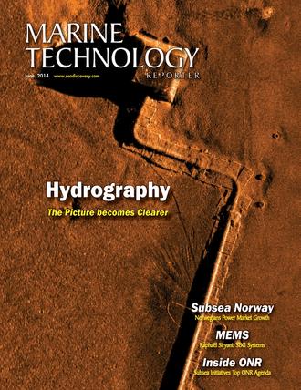 Marine Technology Magazine Cover Jun 2014 - Hydrographic Survey
