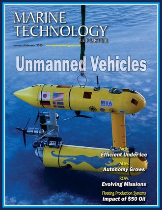 Marine Technology Magazine Cover Jan 2015 - Underwater Vehicle Annual: ROV, AUV, and UUVs