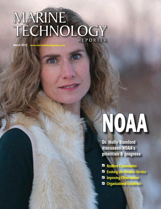 Marine Technology Magazine Cover Mar 2015 - Oceanographic Instrumentation: Measurement, Process & Analysis