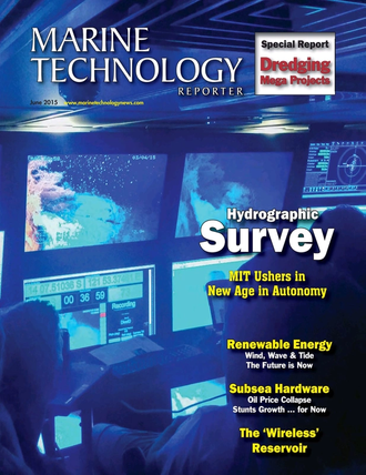 Marine Technology Magazine Cover Jun 2015 - Hydrographic Survey