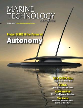 Marine Technology Magazine Cover Oct 2015 - AUV Operations