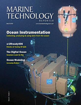 Marine Technology Magazine Cover Mar 2018 - Oceanographic Instrumentation: Measurement, Process & Analysis