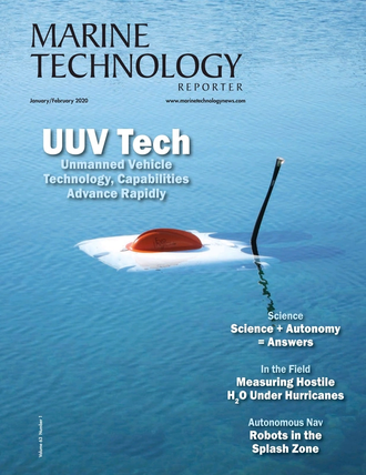 Marine Technology Magazine Cover Jan 2020 -