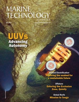 Marine Technology Magazine Cover Apr 2020 -