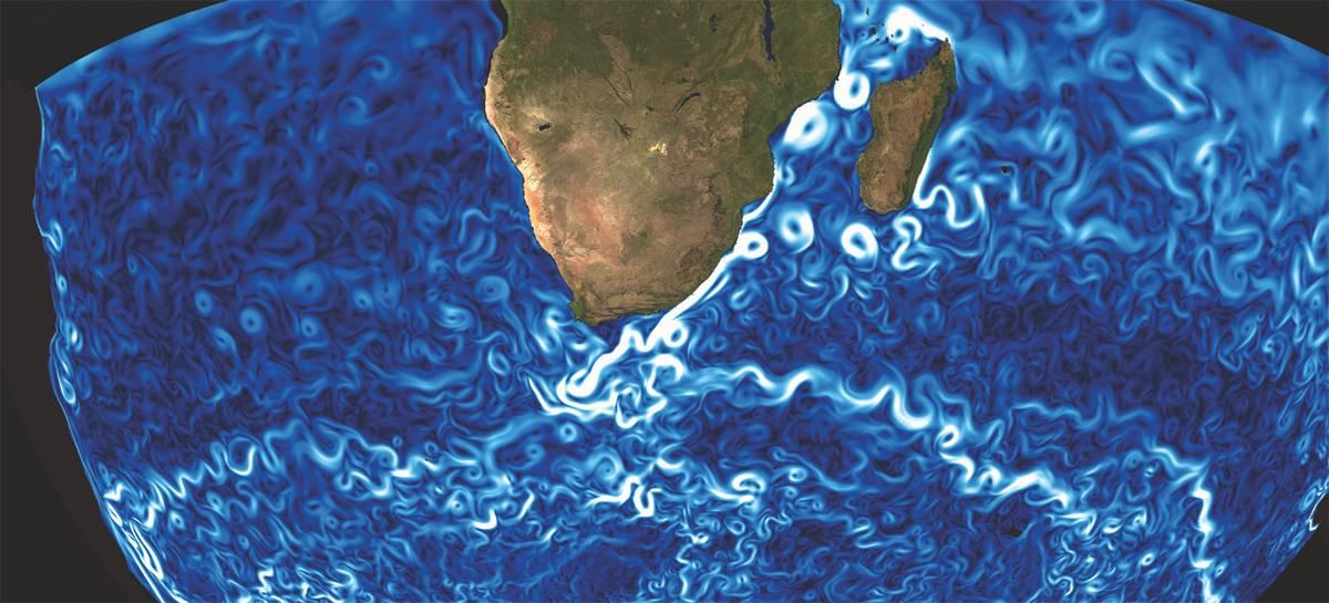 Αντιπροσωπεύοντας το ρεύμα της βελόνας (Credit: Mercator Océan)