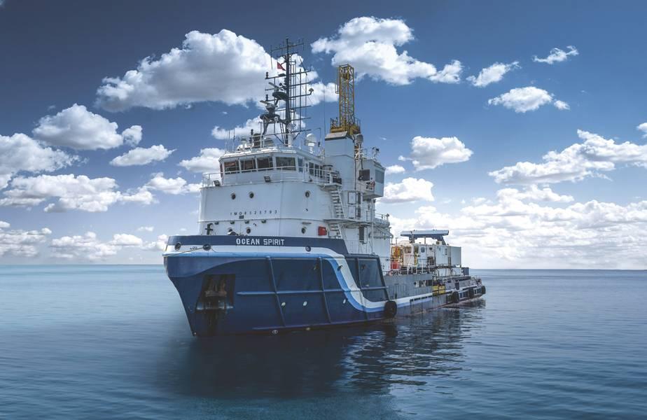 Основанная в Англии, MG3 является морской геолого-исследовательской фирмой. MG3 поддерживает флот из трех многоцелевых судов DP1, способных работать в морских и прибрежных районах, каждый из которых оснащен множеством боковых и многолучевых сонаров, а также буксируемых магнитометрических приборов для подземной съемки. (Предоставлено: MG3)