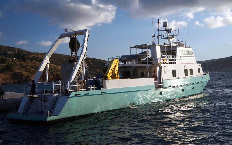 سفينة البحوث العلمية RPM Nautical Foundation RV Hercules (تصوير فاسيليس Mentogianis / RPM Nautical Foundation)