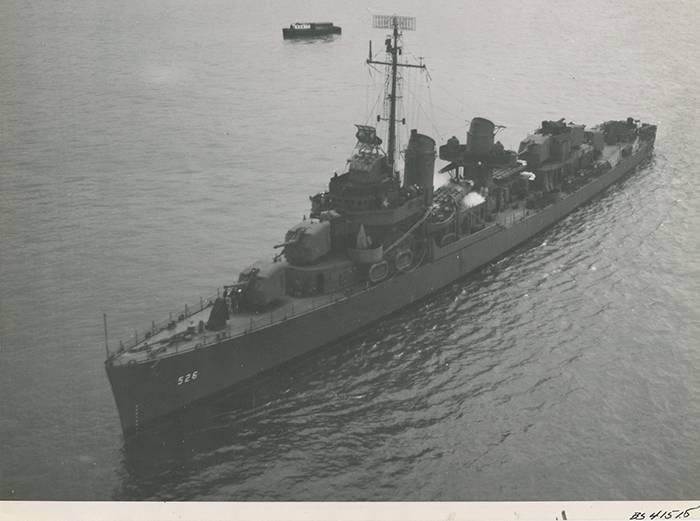 صورة تاريخية من USS Abner قراءة. (المحفوظات الوطنية)
