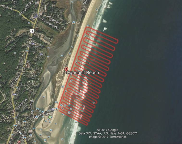 चित्रा 2: एक सागर ओटर सीढ़ी खोज पैटर्न