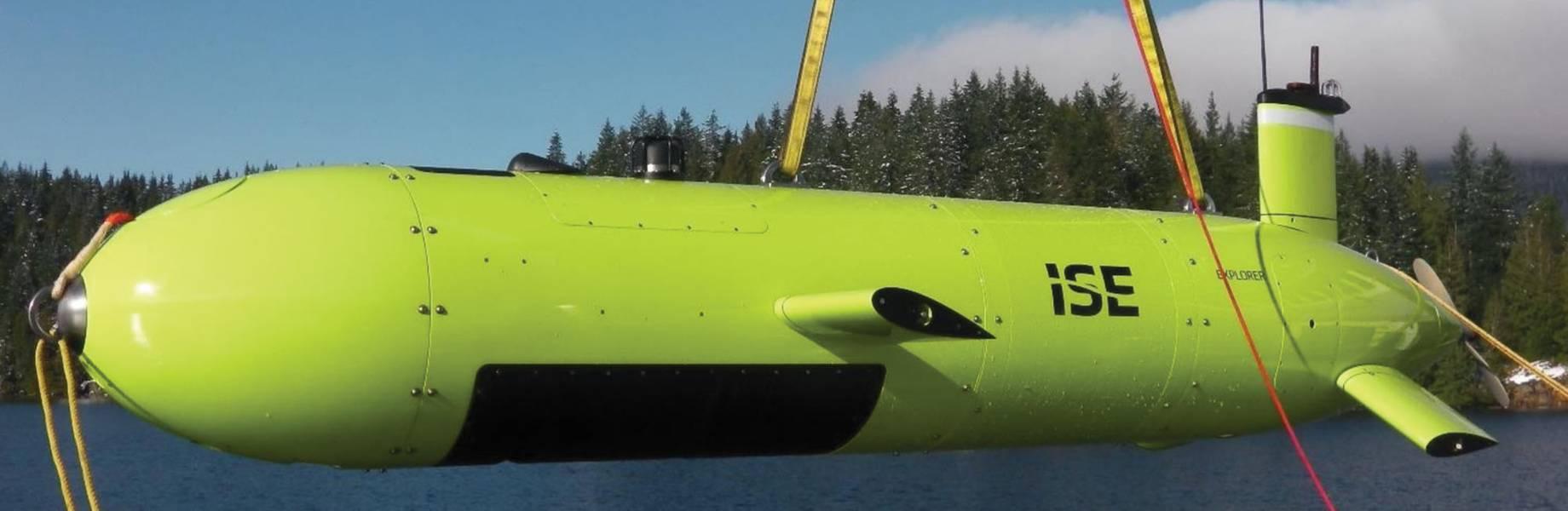 有效载荷:ISE Explorer 6000级和ISE 3000 R&D AUV。图片来源:国际潜艇工程
