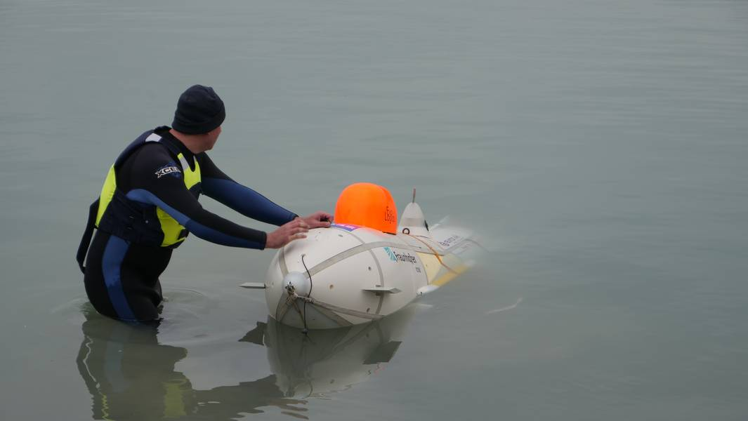 ARGGONAUTS正在创造两个群:一个在深海,一个在海洋表面。五个或更多的智能深海机器人无人机将由相同数量的自主双体船伴随和支持,用于地理参考,检索和运输。 (照片:易卜拉欣·谢哈布)