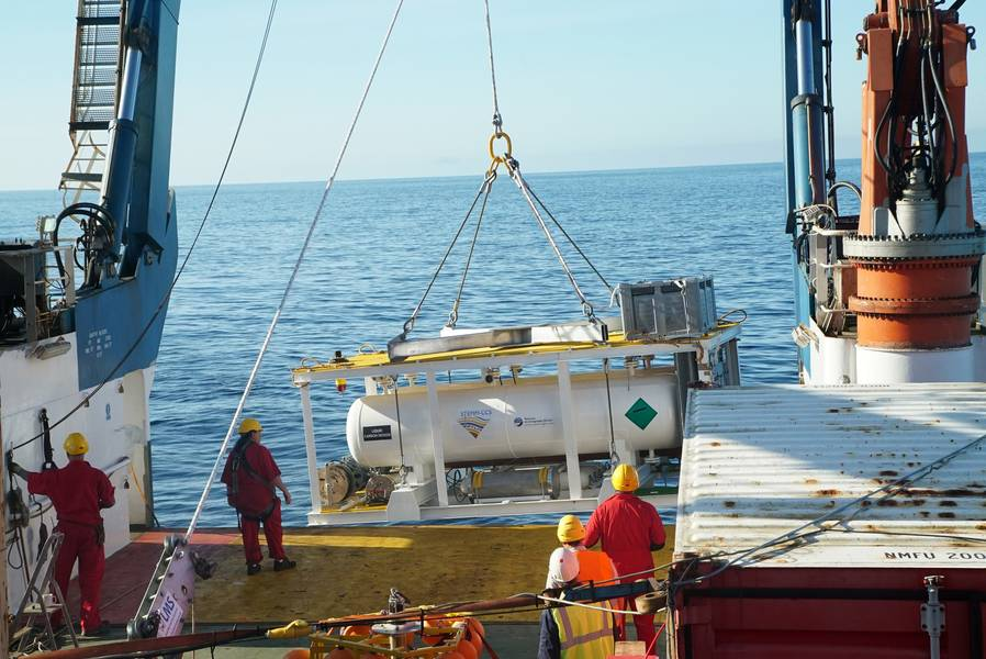 CO2供給タンクは、北海環境の厳しさに耐えるように特別に設計する必要がありました。画像:著作権STEMM-CCSプロジェクト