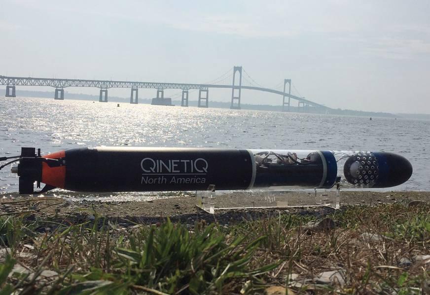 ANTX 2018 पर QinetiQ उत्तरी अमेरिका का SEAScout Mk2 UUV (सौजन्य QinetiQ उत्तरी अमेरिका)