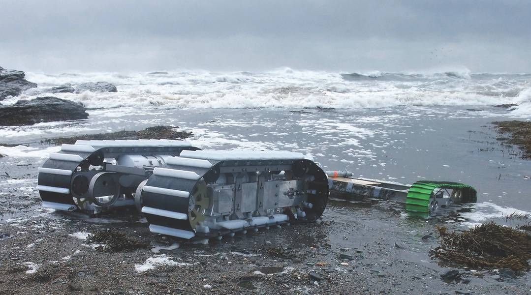 Abbildung 3: Der Sea Ox mit einem geschleppten Nutzlastschlitten