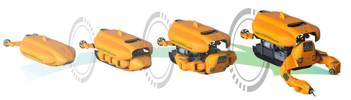 Aquanaut é capaz de se transformar de um AUV em um ROV (Foto: Houston Mechatronics)