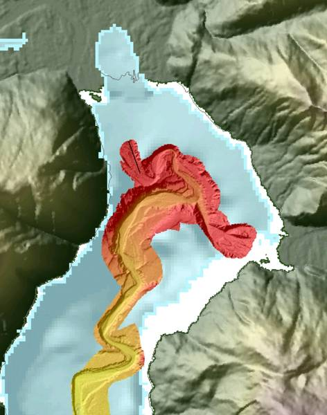 Batimetria Bute Inlet. Imagem: ASL