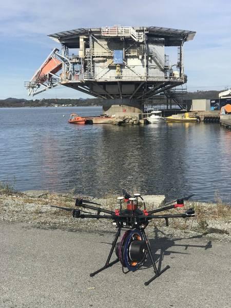 Conceito de sonar de mergulho do Birdview. Foto de Olav Bruset.