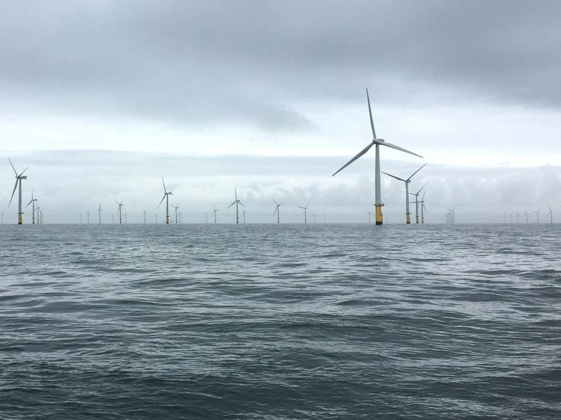 Der Windpark Gwynt Y Mor. Foto von Rovco.