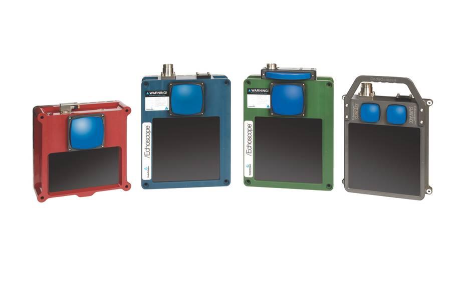 图1  -  Echoscope XD,Echoscope和Echoscope C500声呐(图片:Coda Octopus)