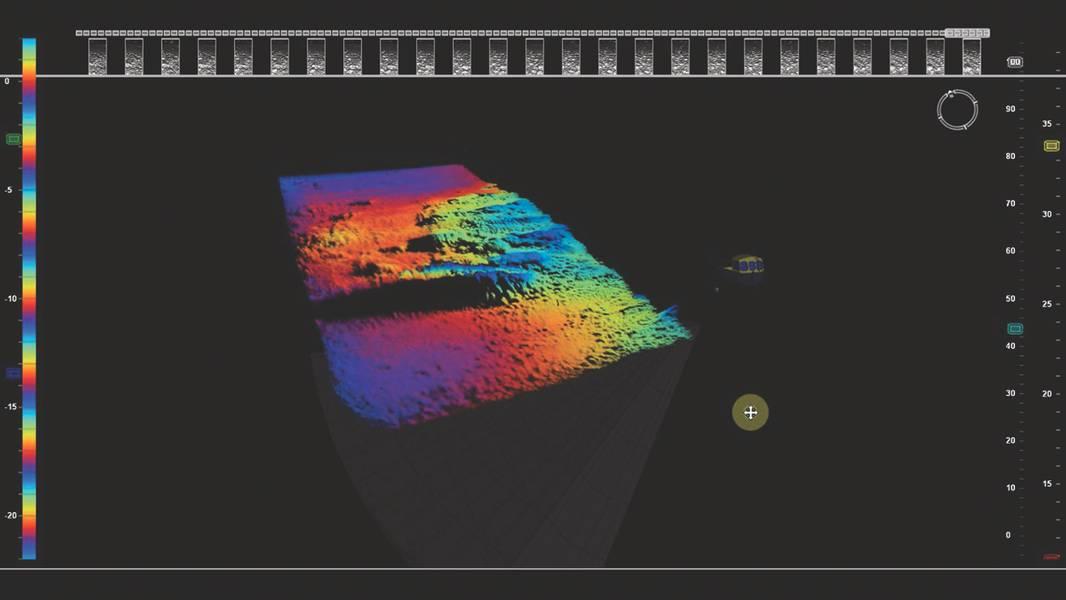 Fig. 5 - Datos batimétricos en 3D en tiempo real (Imagen: Coda Octopus)