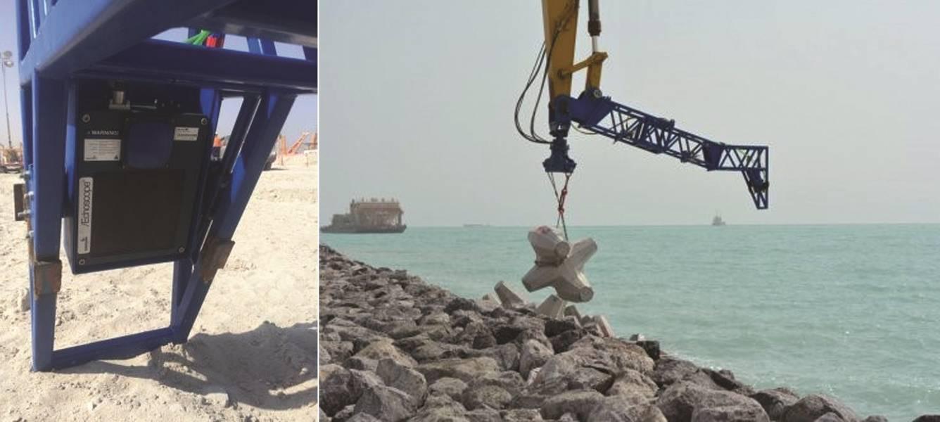 Fig. 9 - Instalación de la excavadora de ecosondas en Kuwait (Imagen: Coda Octopus)