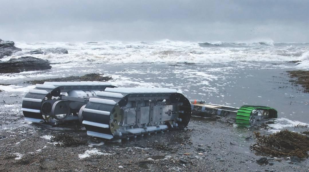 Figura 3: O Boi Marinho com um trenó de carga útil rebocado