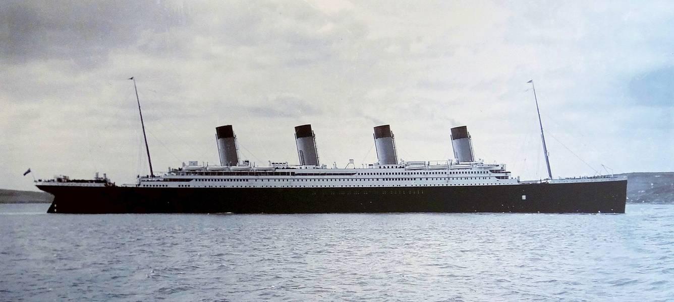 Foto del archivo: el Titanic fotografiado en Cobh Harbour, en abril de 1912 (Foto: Cobh Heritage Centre)