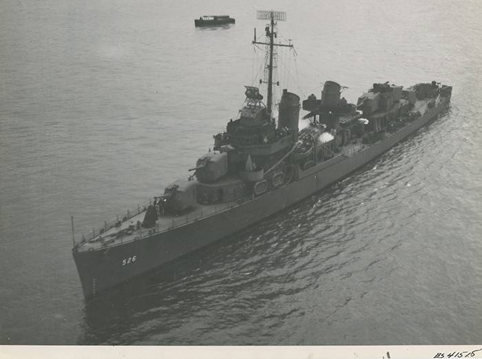 Historisches Bild von USS Abner Lesen. (Nationalarchive)