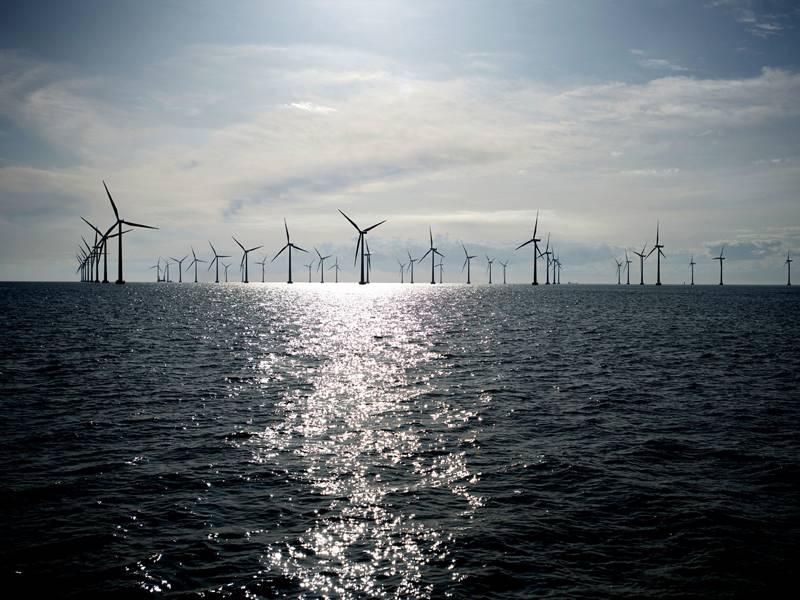 Imagen de archivo: una instalación eólica marina típica (CRÉDITO: Siemens)