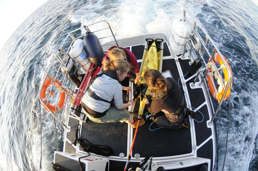 Los planeadores se han convertido en una plataforma utilizada regularmente para el monitoreo del océano. Foto de SAMS.